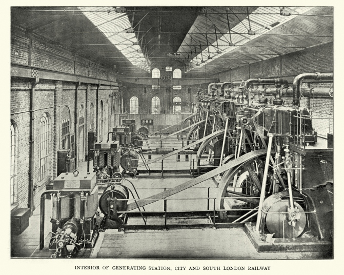 Generating Station, City and South London Railway, 1899